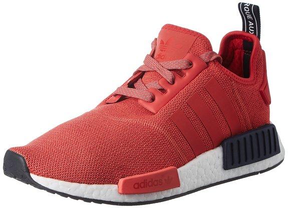 ADIDAS NMD R1 (rotweißschwarz, Damen Sneaker)